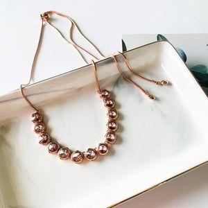 🍀🍀Henri Bendel Crystal Slider Necklace